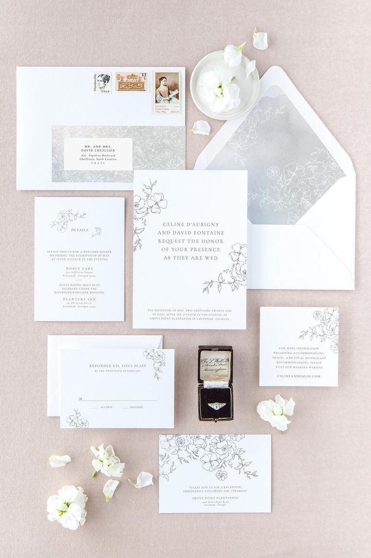 Floral Wedding Invitation Set Elegant Wedding Invitations Etsy In 2020 Floral Wedding Invitations Elegant Wedding Invitations Wedding Invitation Sets