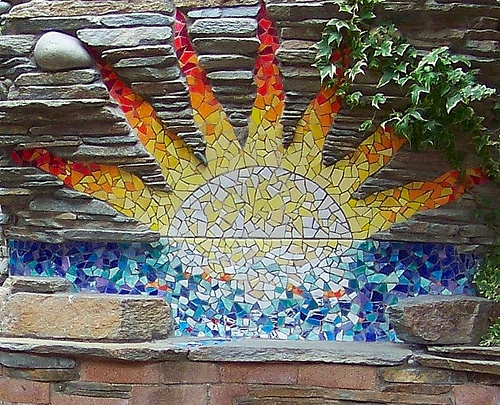Cambria Pines Lodge Mosaic Sun By Retrokitsch Via Flickr