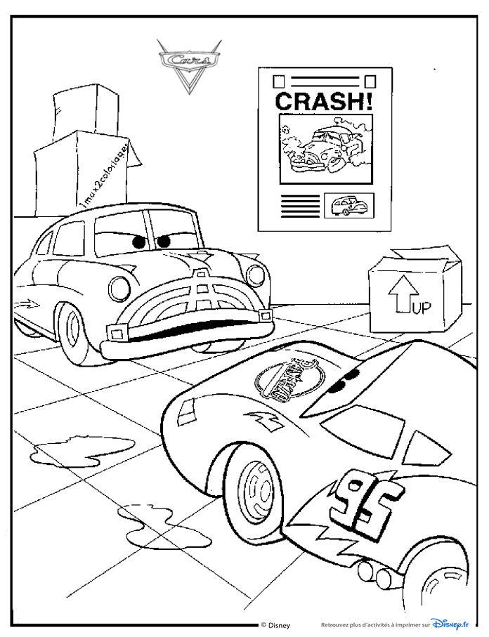 Les 14 meilleures images du tableau cars 1 sur pinterest cars coloriage coloriages et - Coloriage flash mcqueen en ligne ...