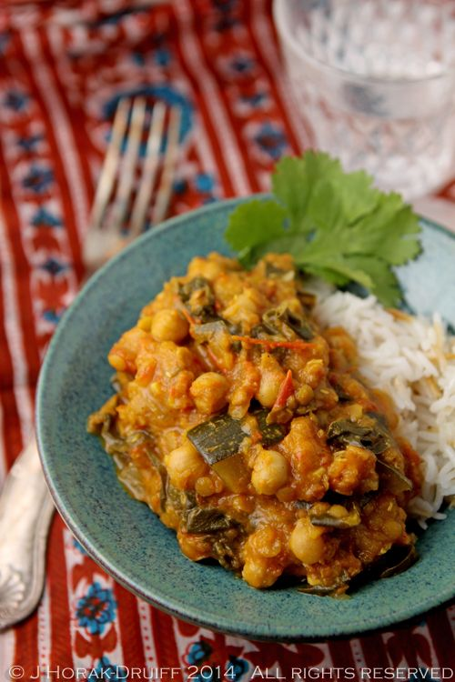 This super-easy creamy chickpea, spinach and zucchini curry is not only dairy-free, gluten-free and vegan but also soothing and delicious.