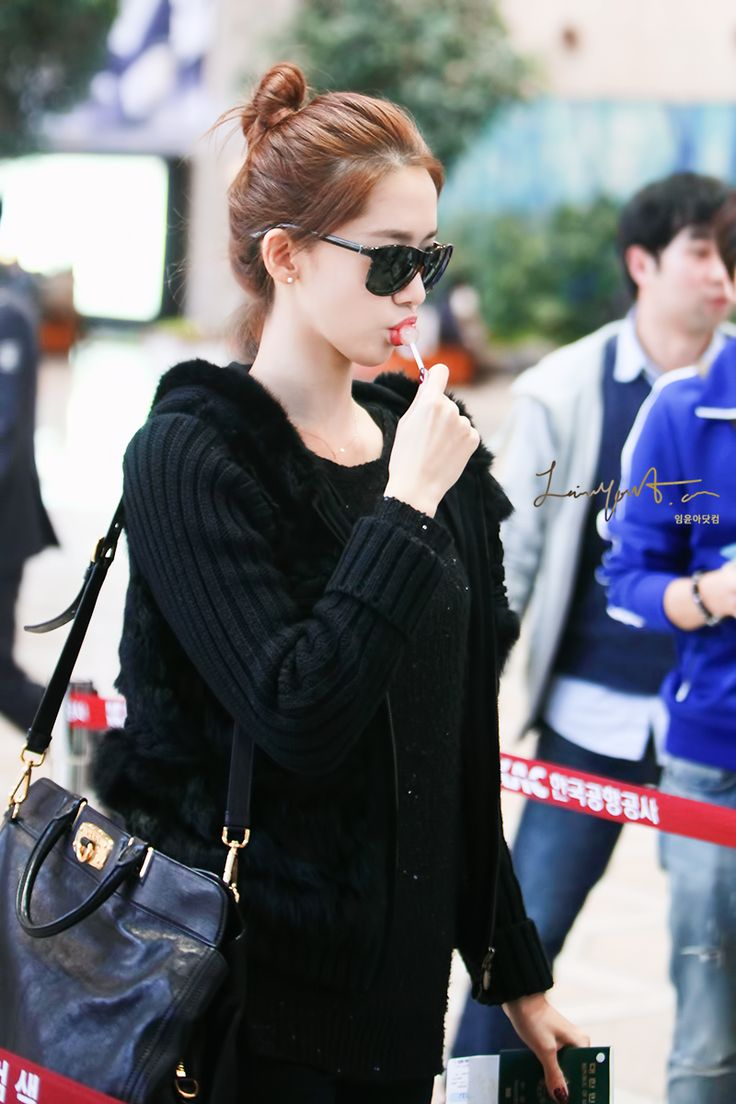 kpop airport fashion.. just love this all black look