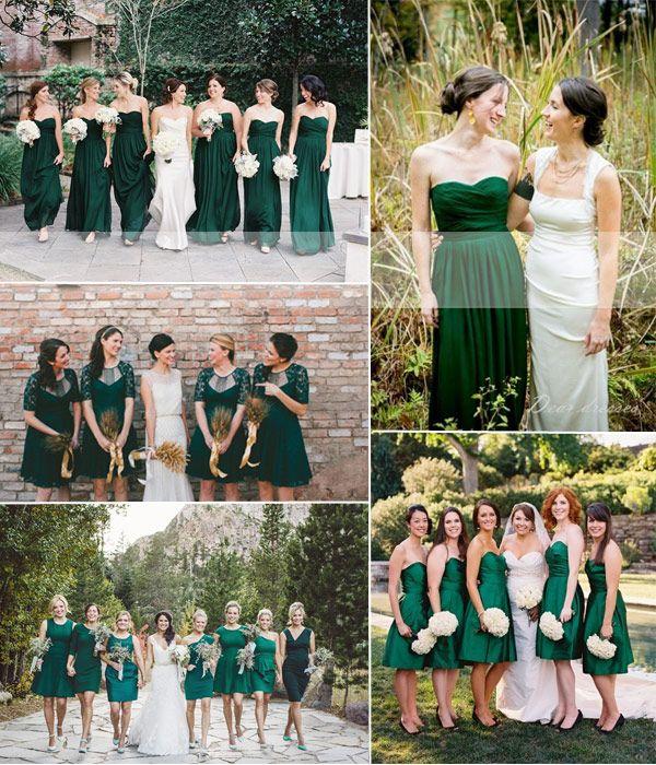 emerald bridesmaid dresses ideas 2014
