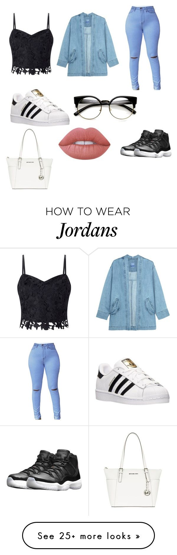 """""""weeknds clothes """" by classy-b on Polyvore featuring Lipsy, Steve J & Yoni P, adidas, MICHAEL Michael Kors, Lime Crime and NIKE"""