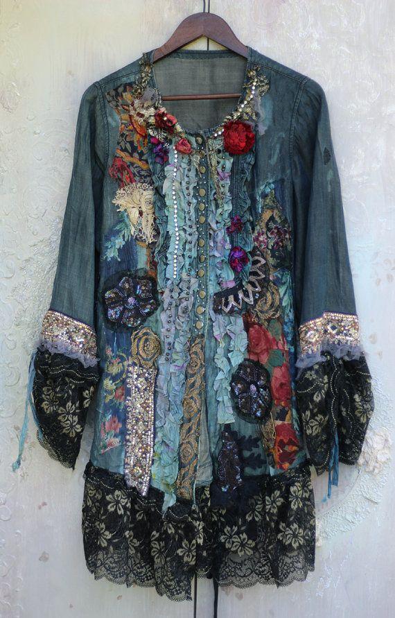 Imperatrice giacca lungo ornato barocco di FleursBoheme su Etsy