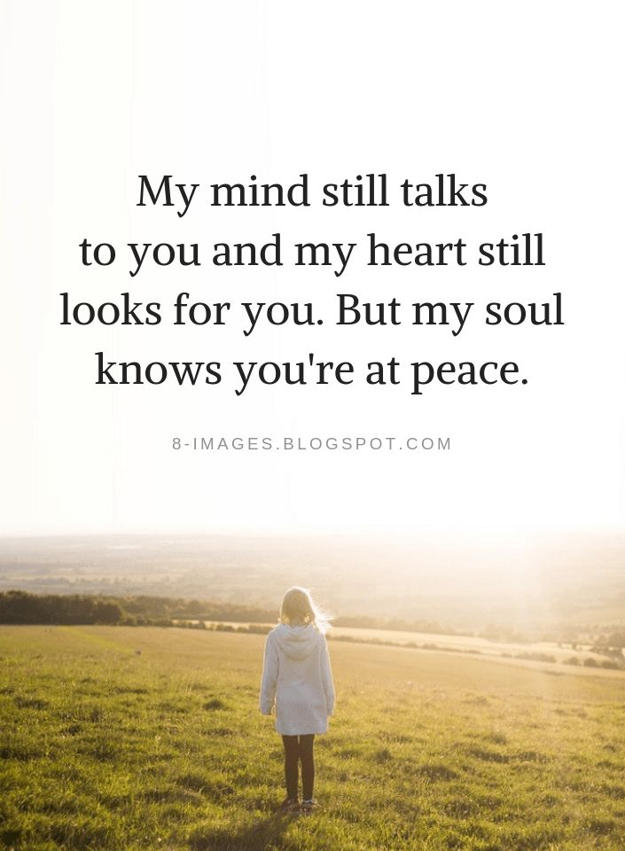 Quotes My mind still talks to you and my heart still looks for you. But my soul … – Ni Cole