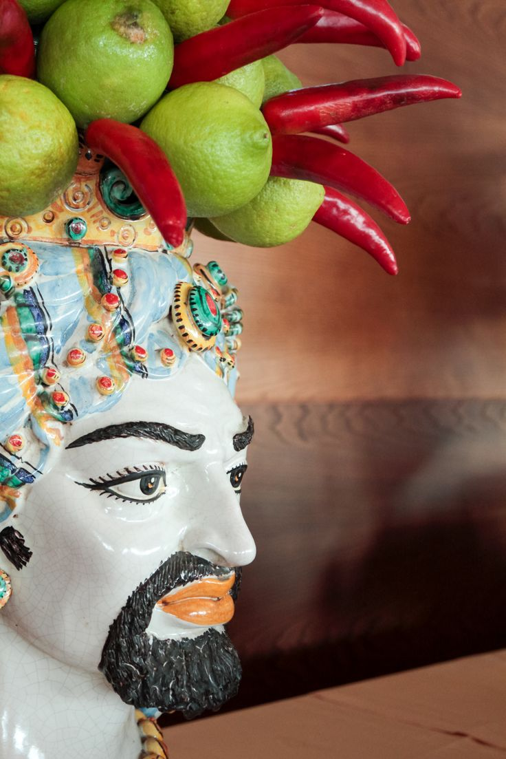 Sicilian Ceramics decorated on Sicilian products .. breakfast room
