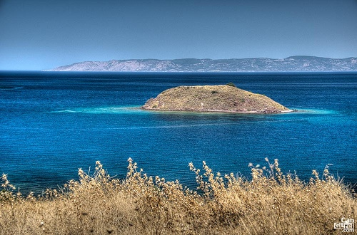 Islet off Petra Beach #Lesvos #Aegean Sea #Greece #travel #ttot #travelling2GR #visitGReece   PHOTO via: Can Gurel http://www.flickr.com/photos/58317219@N00/6509861039/