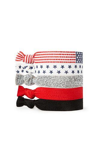 Americana Hair Tie Set | FOREVER21 - 1000071390