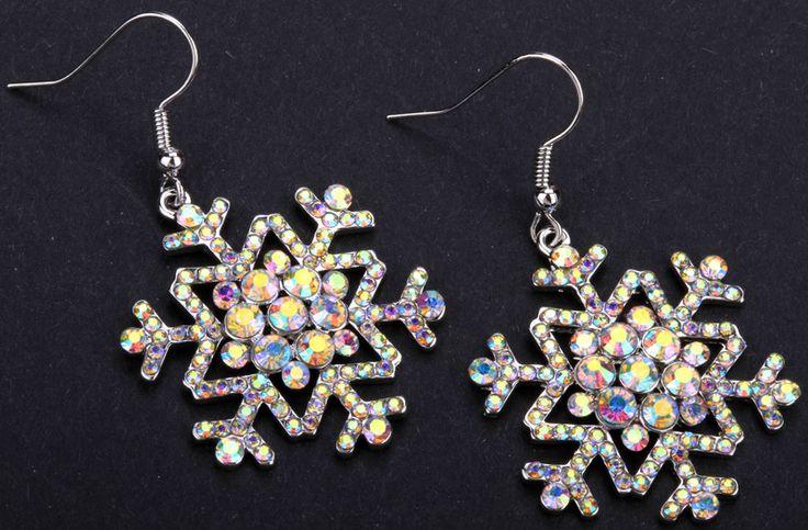 Aliexpress.com: Koop Sneeuwvlok dangle lange oorbellen voor vrouwen meisjes thanksgiving vakantie geschenken leuke mode sieraden groothandel 2015 ED14 van betrouwbare oorbellen cool leveranciers op Jewels Trend