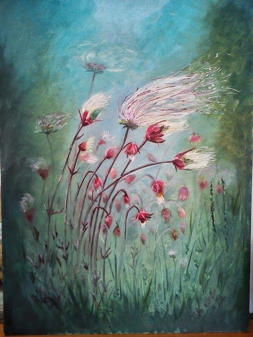 Minnesota flowers, oil on panel 50x70