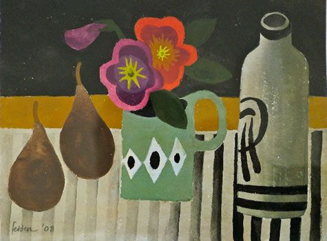 Still life with Flowers: Mary Fedden.