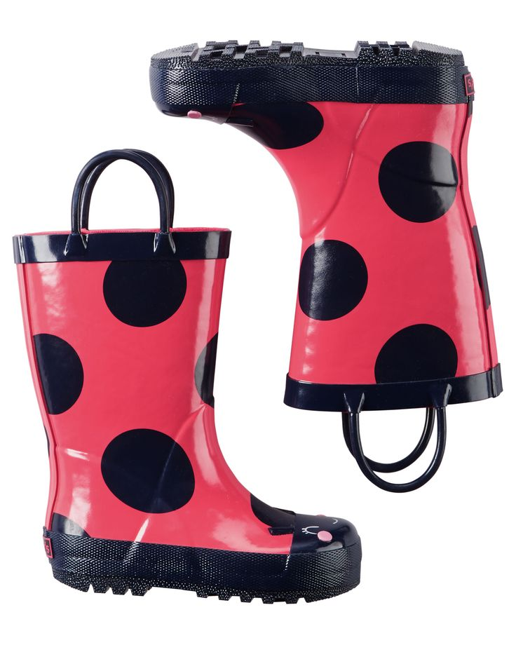 Toddler Girl Lady Bug Rain Boots | Carters.com