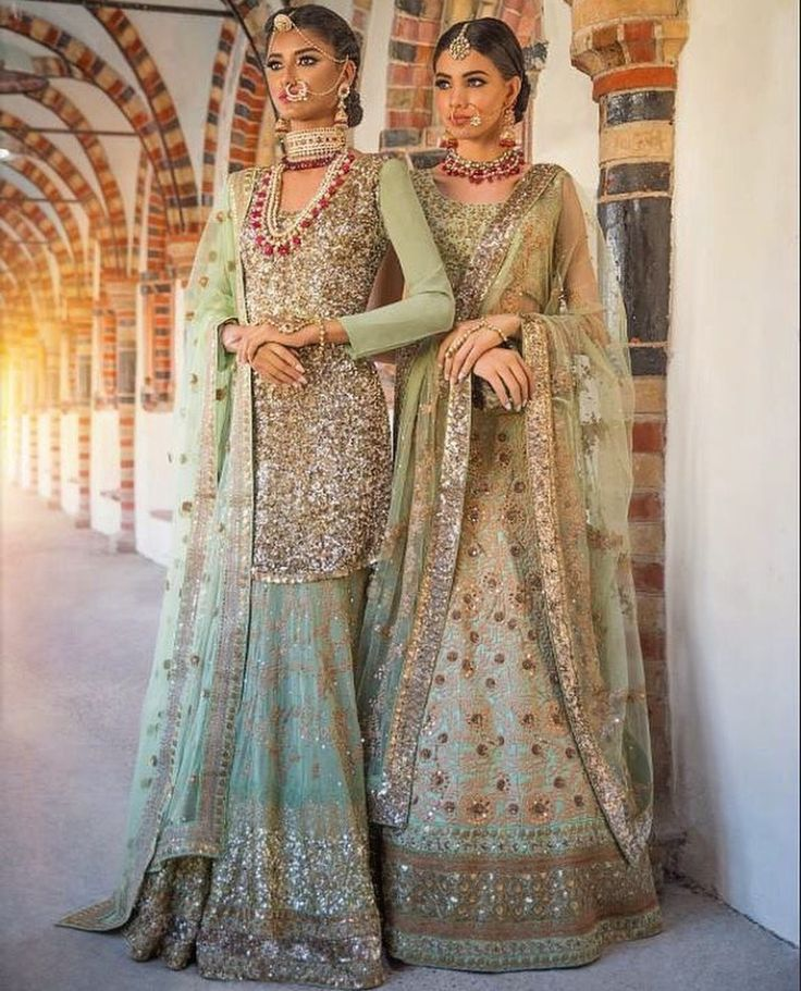Mint green #indian Bridal #lehenga and #wedding outfit