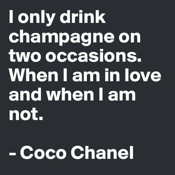 Anytime is the best time for champagne.