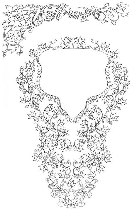 Bodice/Stomacher Front and Neckline