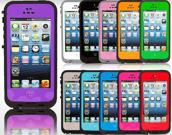 2013 New Arrival Lifeproof Shock proof Dirt proof Waterproof Case for iPhone 4 4S Iphone 5 on Etsy, $16.99