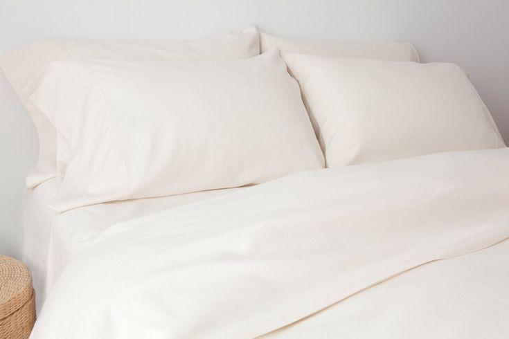 Flannel Ivory Pillowcase Pair.