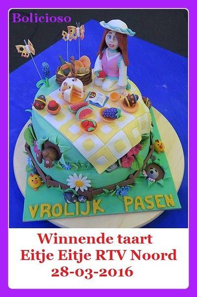 """Paas - picknick taart, winnende taart """"Eitje Eitje"""" RTV Noord 28-03-2016 / Easter - picknick cake , winning cake """"Eitje Eitje""""RTV Noord 28-03-2016 / https://www.facebook.com/bolicioso"""