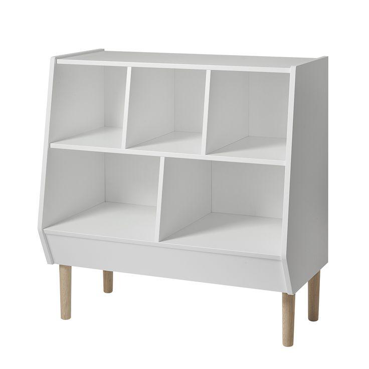 Done by Deer Moderne, offene Wickelkommode weiß/natur B90cm - ohne Wickelaufsatz bei Fantasyroom online kaufen