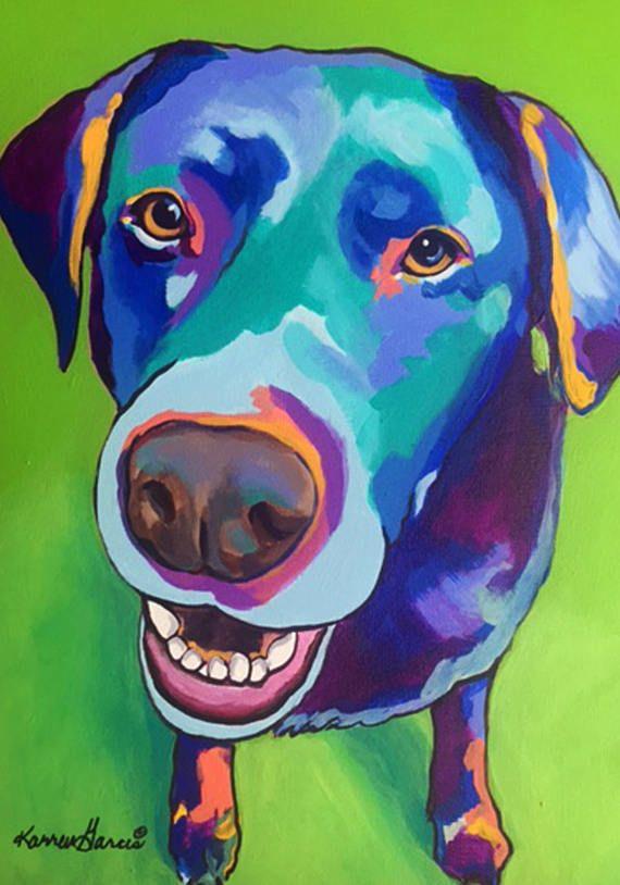 Labrador Retriever Dog Art Print Matted P//L