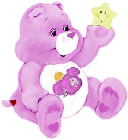 Bonita pintura de oso amoroso con estrella