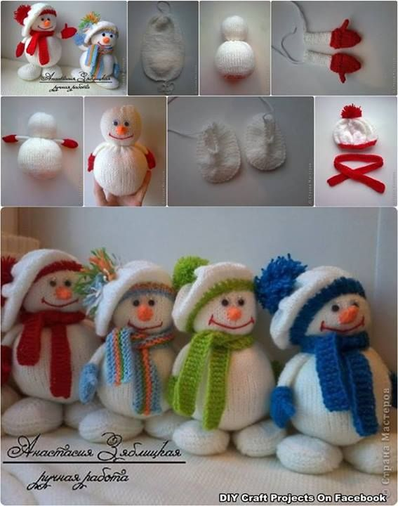 Winter Hat Snowman Tutorial. I can't crochet or knit but I put these cuties on here for people who can.