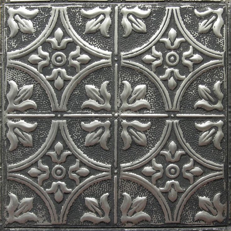 american tin ceiling tiles pattern in silver washed pewter - American Tin Ceilings