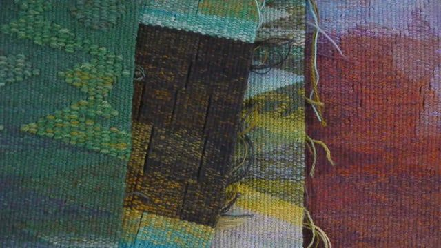 Tapestry weaver Joan Baxter's 5 day class at Big Cat Textiles in Newburgh Fife. September 2015