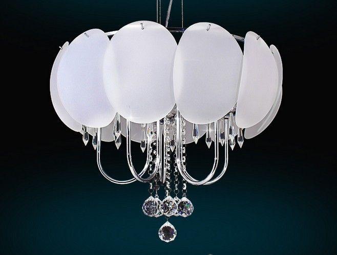 Современные Кристалл освещение 5-свет Спальня Свет Ресторан Лампы современные стеклянная и хрустальная люстра с СВЕТОДИОДНЫЕ лампы