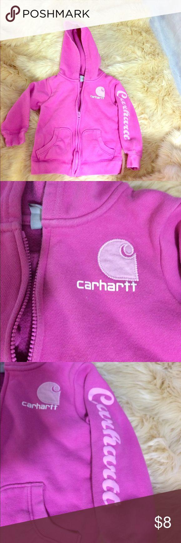 Pink Carhart sweatshirt This is a pink Carhart girls sweatshirt Carhartt Shirts & Tops Sweatshirts & Hoodies