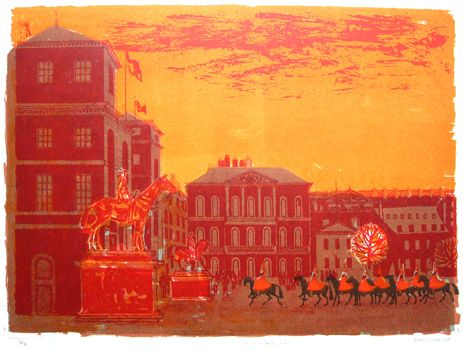 """Horseguards Summer"" by Robert Tavener 1920-2004 St. Jude's specialising in British printmaking"