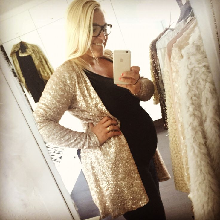 This was a dress.. I remade it to a sparkling, gold cardigan..