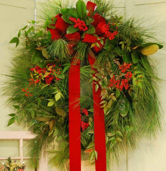 Fresh Outdoor Christmas Wreath