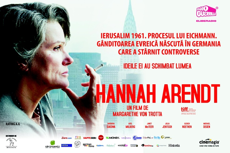 HANNAH ARENDT    http://youtu.be/gxLSOmqg1ow