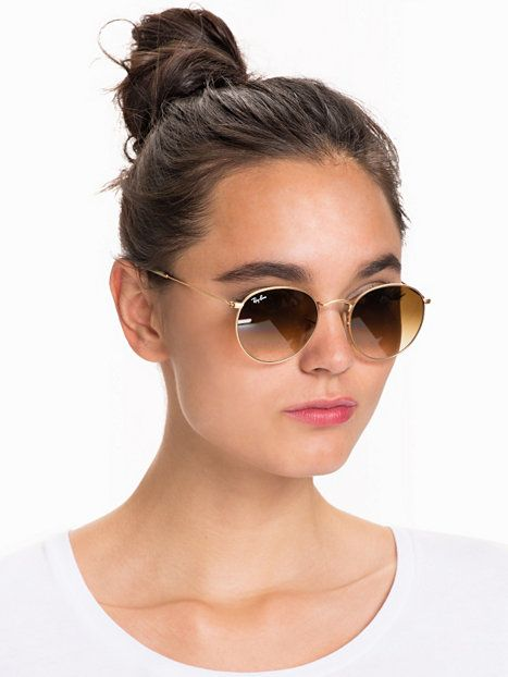 Rb 3447 Round Metal - Ray Ban - Gold/Brown - Solglasögon - Accessoarer -