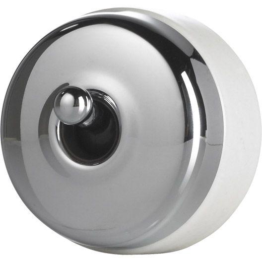 interrupteur va et vient chrom en saillie schneider. Black Bedroom Furniture Sets. Home Design Ideas