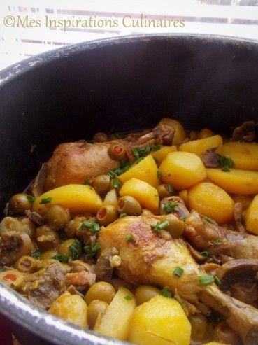 Poulet aux olives Un plat réconfortant de la cuisine algérienne et bien parfumé aux épices. ...