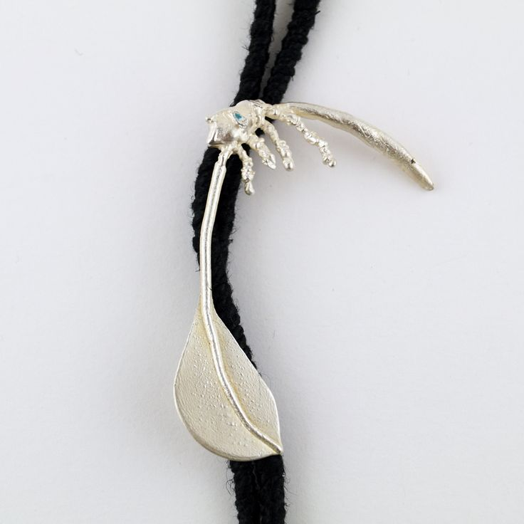 Indian warrior necklace, Handmade silver 925 necklace for women, by Agori Fotopoulou, Length of 62cm, Enamel flax,