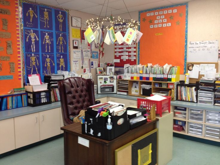Chandelier Over Teacher Desk For Notes And Cards Cute