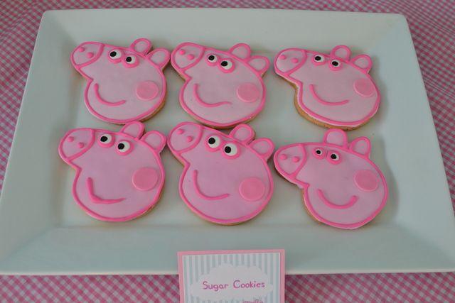 Cookies at a Peppa Pig Party #peppapig #partycookies