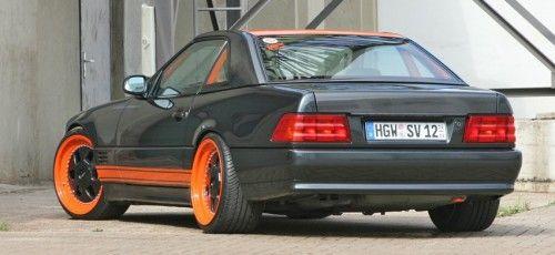 034 bilder mercedes benz sl 500 tuning umbau r129 carbon for Mercedes benz tune up cost