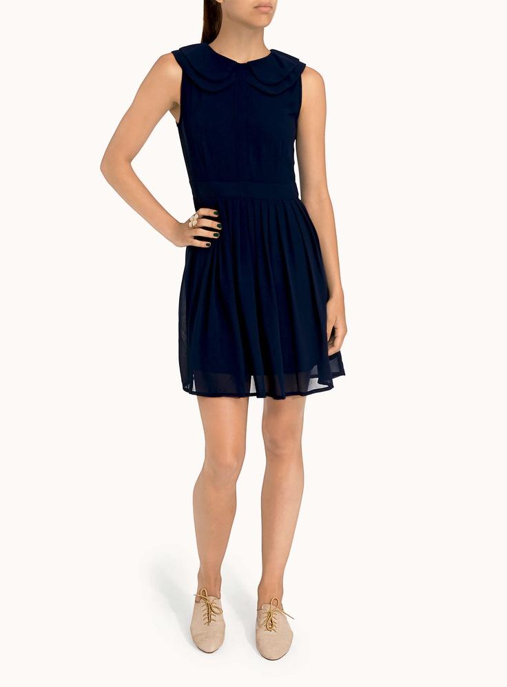 7. La robe chiffon col Claudine | Simons (moyen)