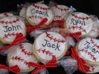 baseball cookies -- Josh's birthday treat?