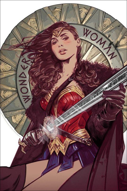 Wonder Woman (2017) poster by Tula Lotay