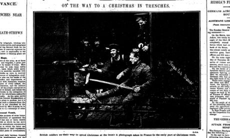 Letters from the front in 1914 reveal the day of peace at Christmas during the first world war