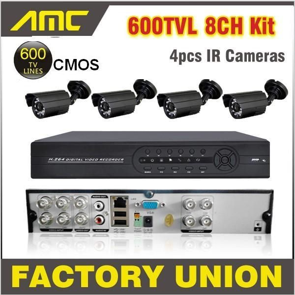 (236.99$)  Know more - http://aiqli.worlditems.win/all/product.php?id=1376114182 - 4pcs 600TVL Cameras CCTV System 4ch Channel CCTV Kit Security Camera System Home Video Surveillance DVR Security System 4CH