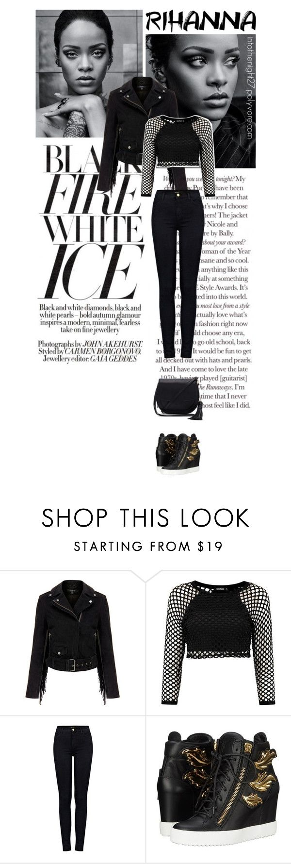 """#241 - Hot Ticket: Rihanna Concert"" by intothenight27 ❤ liked on Polyvore featuring MuuBaa, J Brand, Giuseppe Zanotti and Rebecca Minkoff"