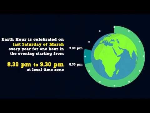 Earth Hour Motion Graphic - Public Service Announcement