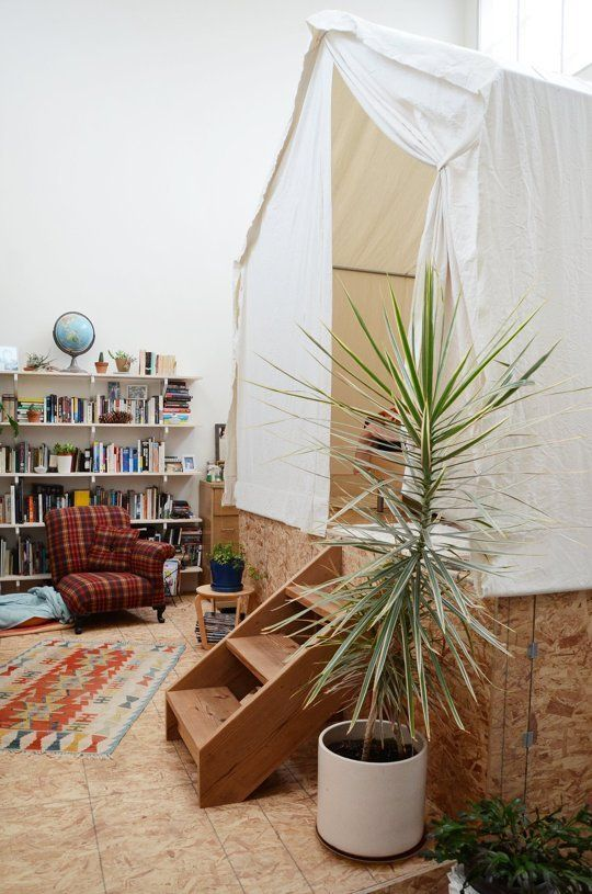 Creative DIY Room Dividing Idea: The Tent Bedroom   Apartment Therapy
