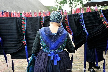 Staphorst. A view before a public auction of traditional clothing 2011, photo by Henk van der Leeden #Overijssel #Staphorst